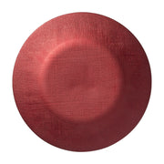 Glitter Glass Red Service Plate/Charger by VIETRI