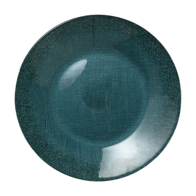 Glitter Glass Teal Service Plate/Charger by VIETRI