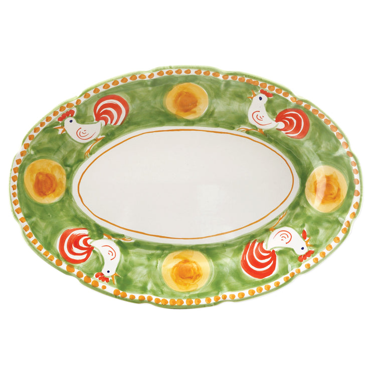 Campagna Gallina Oval Platter by VIETRI