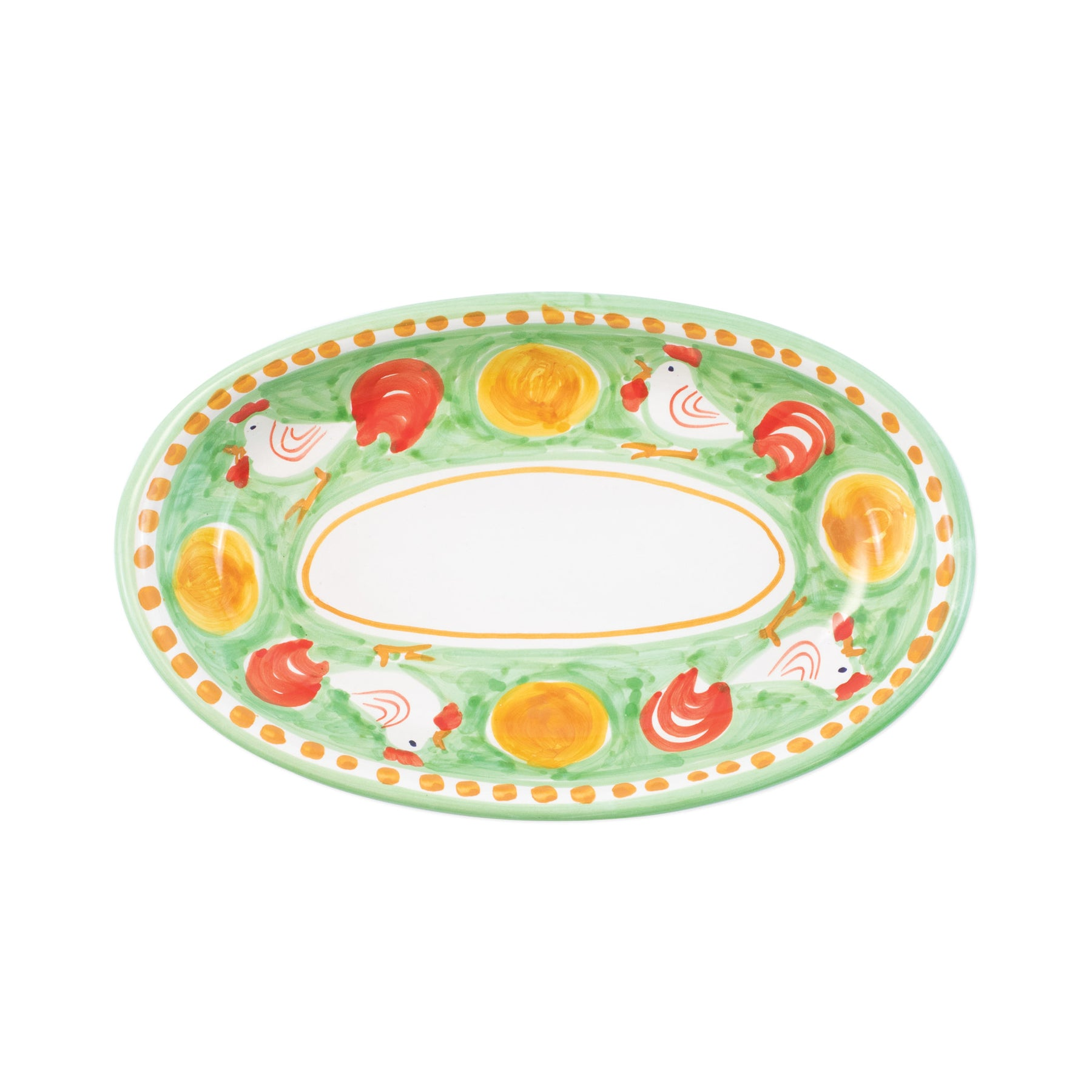 Campagna Gallina Small Oval Tray Vietri