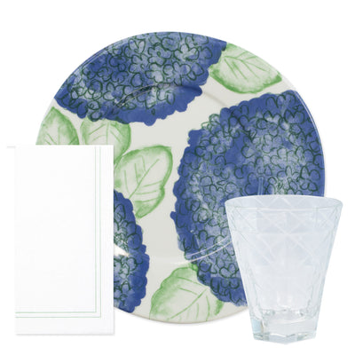 Melamine Hydrangea Dinner Kit (9-Pieces)