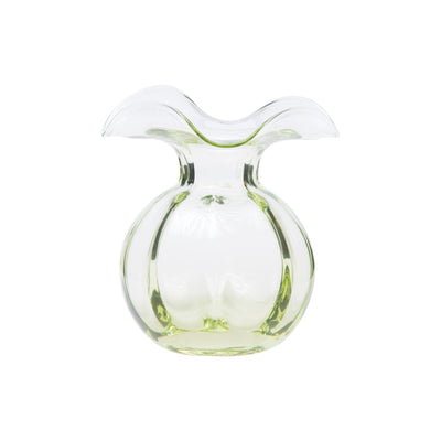 Hibiscus Glass Green Bud Vase by VIETRI