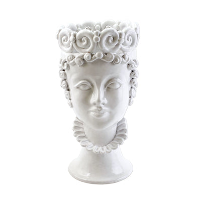 Sicilian Heads White Large Queen Head