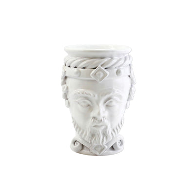 Sicilian Heads White Small King Head