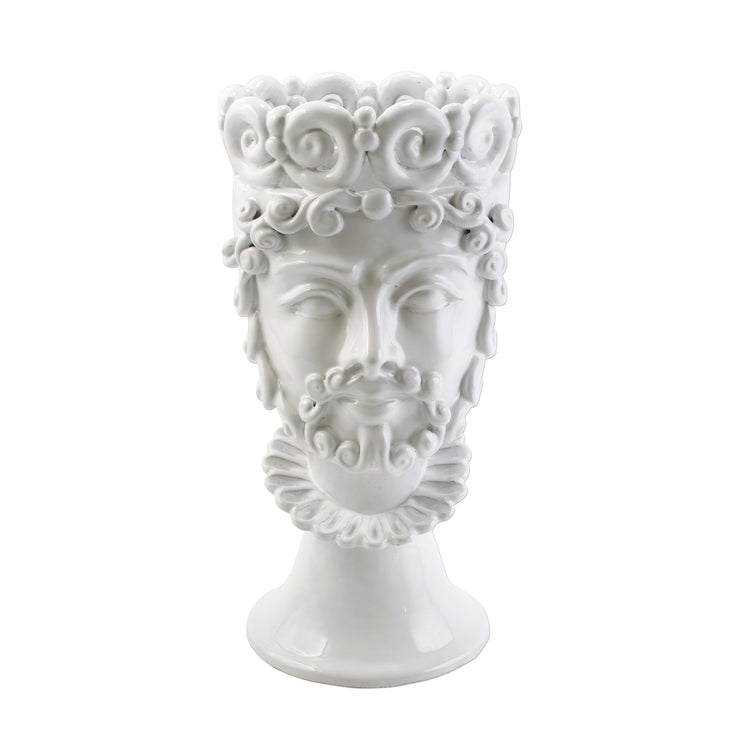 Sicilian Heads White Large King Head