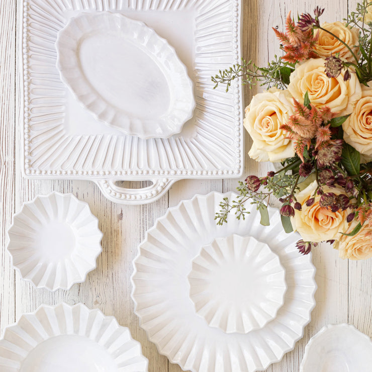 Incanto Scallop Small Oval Tray