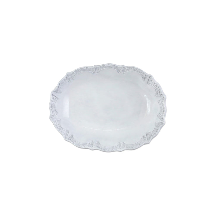 Incanto Lace Small Oval Serving Bowl by VIETRI