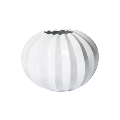 Incanto Pleated Round Vase by VIETRI
