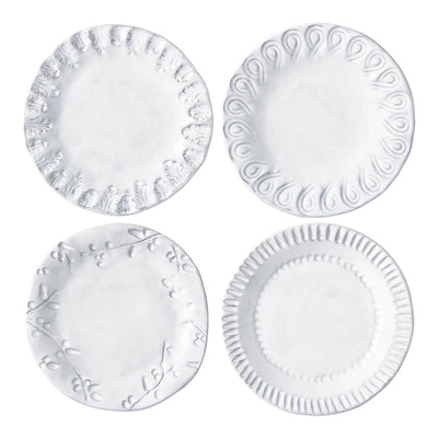 Incanto Assorted Canape Plates - Set of 4 by VIETRI