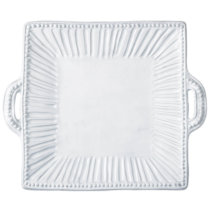 Incanto Stripe Square Handled Platter by VIETRI