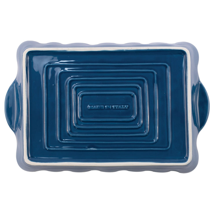 Italian Bakers Blue Large Rectangular Baker by VIETRI