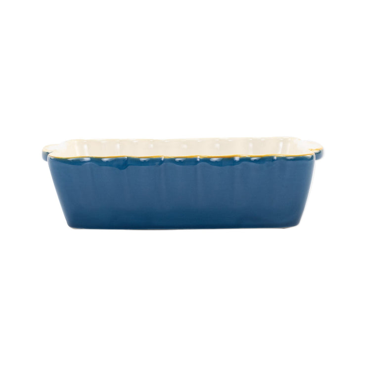 Italian Bakers Blue Small Rectangular Baker by VIETRI