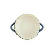 Italian Bakers Blue Small Handled Round Baker by VIETRI