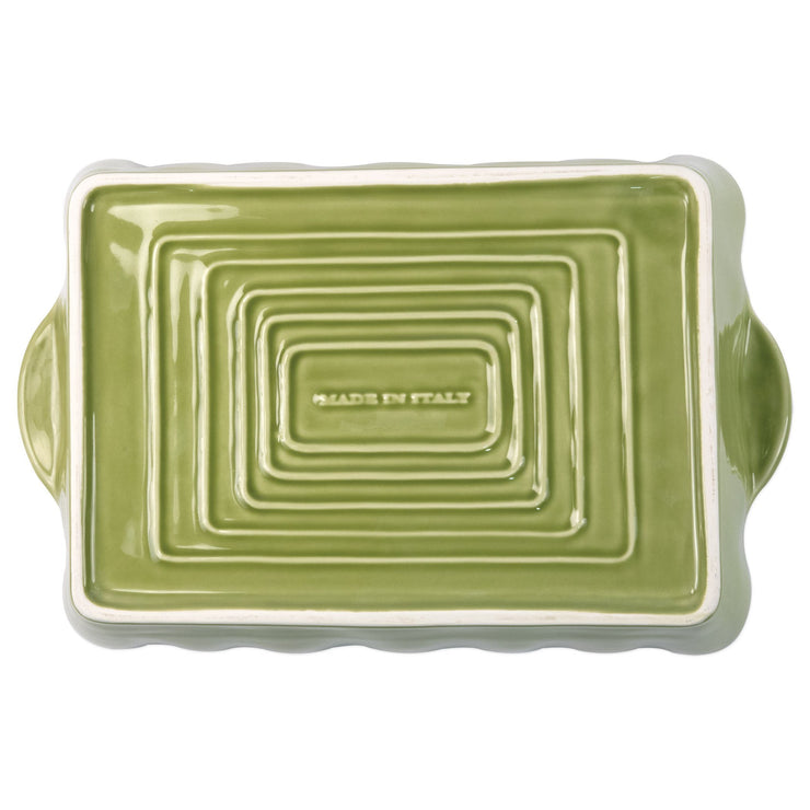 Italian Bakers Green Large Rectangular Baker by VIETRI