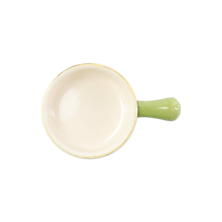 Italian Bakers Green Small Round Baker with Large Handle by VIETRI