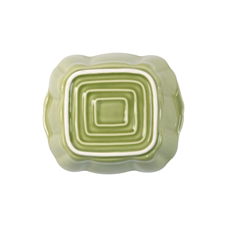 Italian Bakers Green Small Square Baker by VIETRI