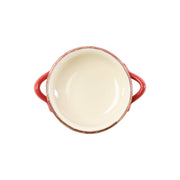 Italian Bakers Red Small Handled Round Baker by VIETRI