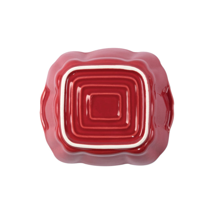 Italian Bakers Red Small Square Baker by VIETRI