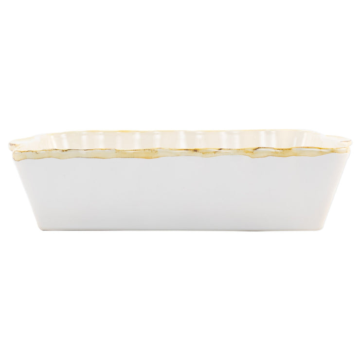 Italian Bakers White Large Rectangular Baker by VIETRI