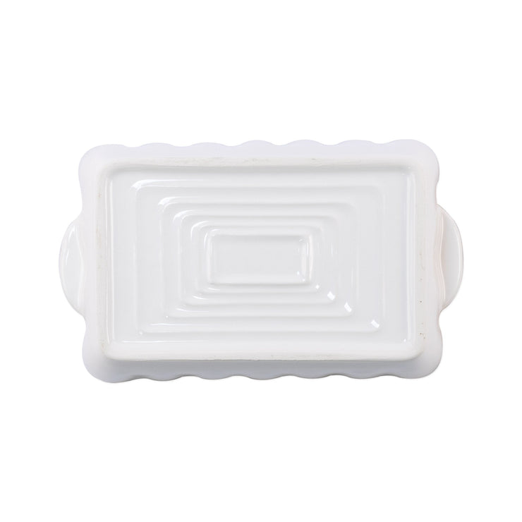 Italian Bakers White Small Rectangular Baker by VIETRI