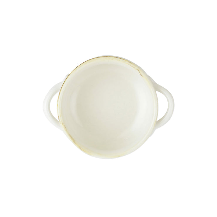 Italian Bakers White Small Handled Round Baker by VIETRI