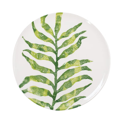 Into the Jungle Arica Palm Leaf Dinner Plate