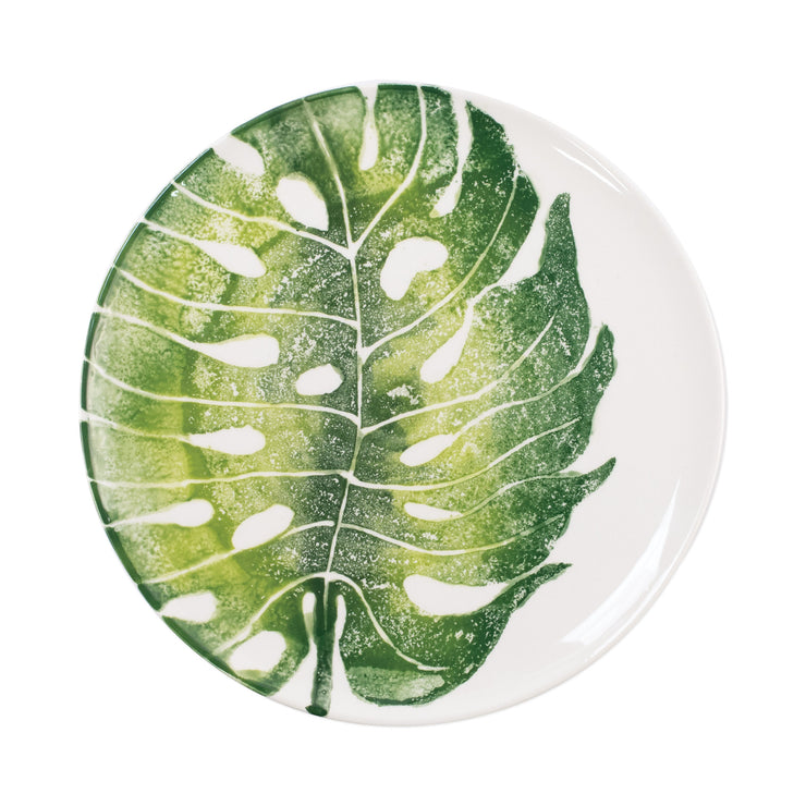 Into the Jungle Monstera Leaf Dinner Plate by VIETRI