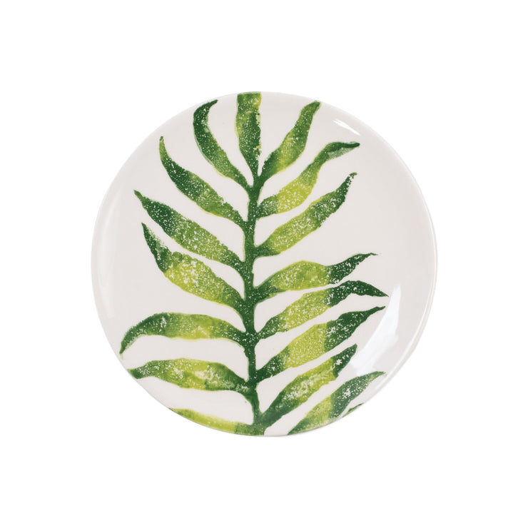Into the Jungle Arica Palm Leaf Salad Plate by VIETRI