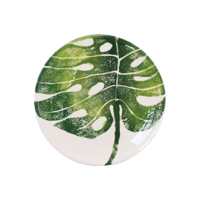 Into the Jungle Monstera Leaf Salad Plate by VIETRI