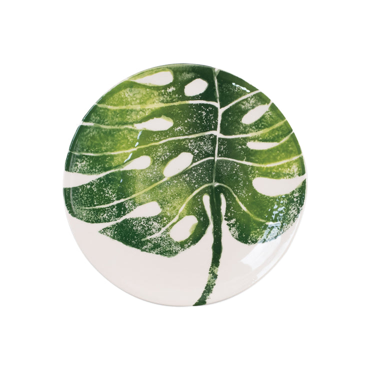 Into the Jungle Monstera Leaf Salad Plate