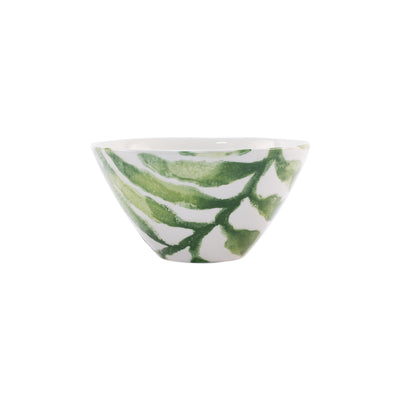 Into the Jungle Arica Palm Leaf Cereal Bowl by VIETRI
