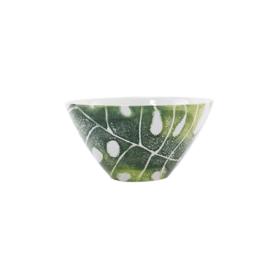 Into the Jungle Monstera Leaf Cereal Bowl by VIETRI