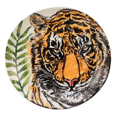 Into the Jungle Tiger Shallow Bowl