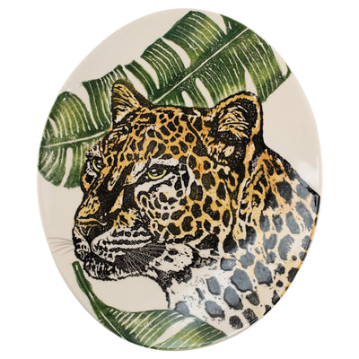Into the Jungle Cheetah Oval Platter
