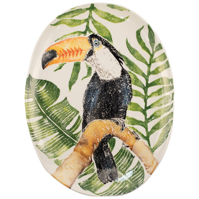 Into the Jungle Toucan Oval Platter by VIETRI