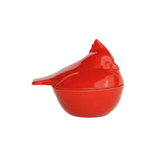 Lastra Holiday Figural Red Bird Covered Bowl by VIETRI