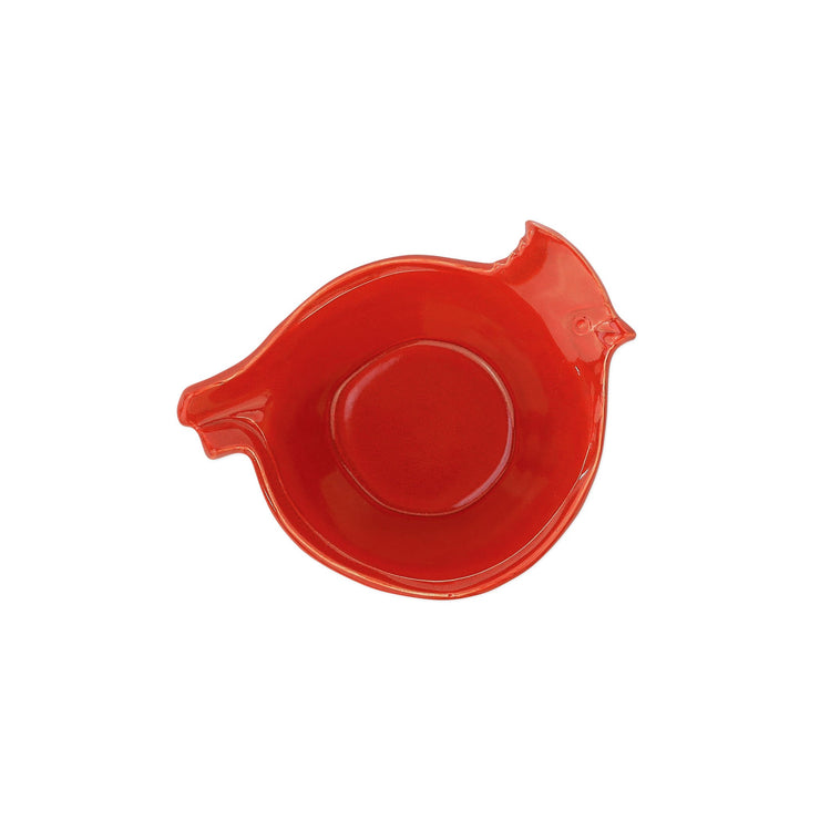 Lastra Holiday Figural Red Bird Small Bowl by VIETRI