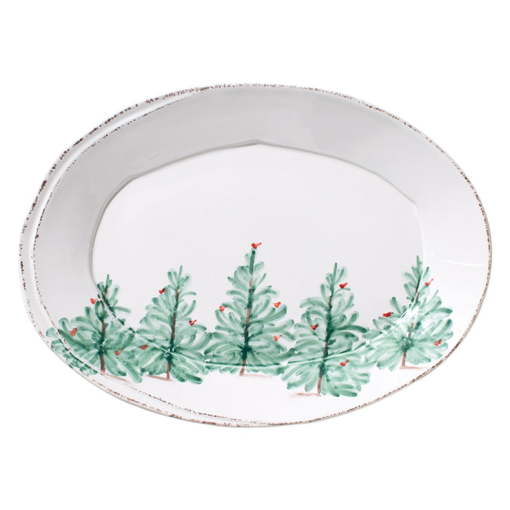 Lastra Holiday Small Oval Platter by VIETRI