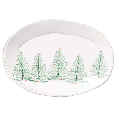 Lastra Holiday Oval Platter by VIETRI