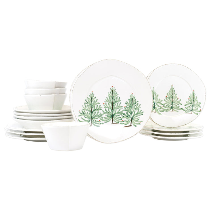 Lastra Holiday Sixteen-Piece Place Setting by VIETRI