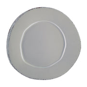 Lastra Gray Dinner Plate by VIETRI