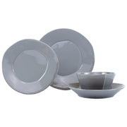 Lastra Gray Four-Piece Place Setting by VIETRI