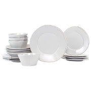 Lastra Light Gray Sixteen-Piece Place Setting by VIETRI