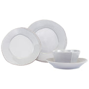 Lastra Light Gray Four-Piece Place Setting by VIETRI