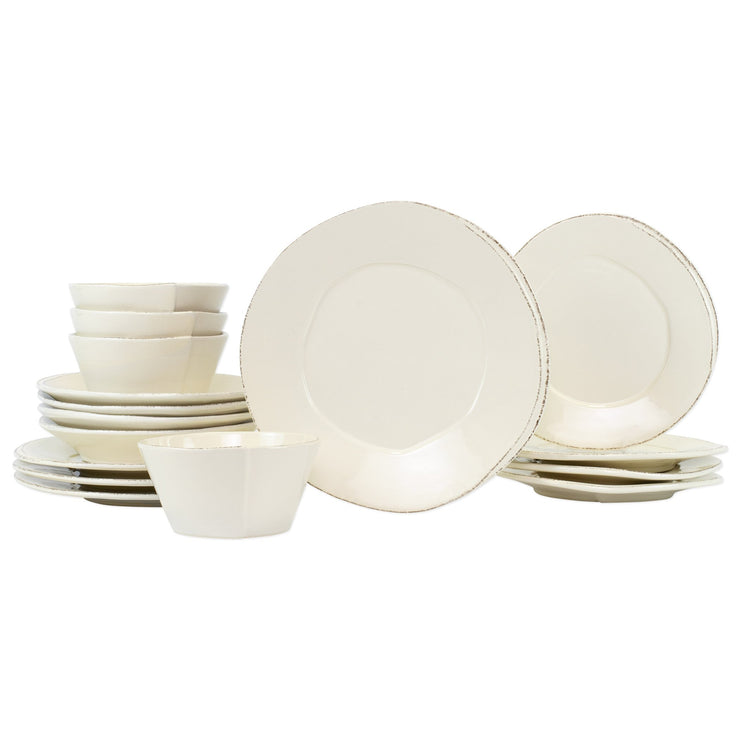 Lastra Linen Sixteen-Piece Place Setting by VIETRI