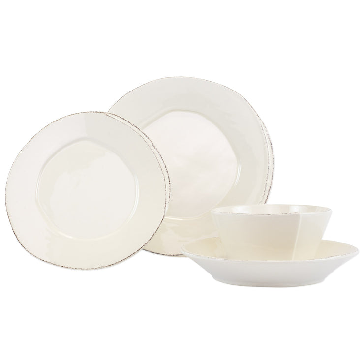 Lastra Linen Four-Piece Place Setting by VIETRI