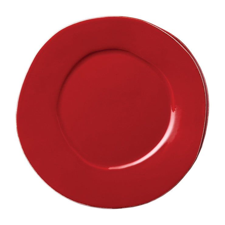 Lastra Red Dinner Plate by VIETRI