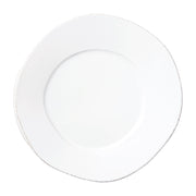 Lastra White Dinner Plate by VIETRI