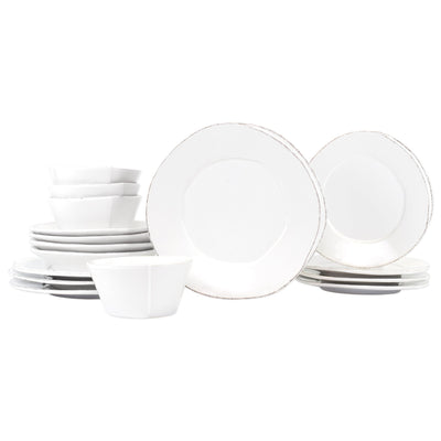 Lastra White Sixteen-Piece Place Setting by VIETRI