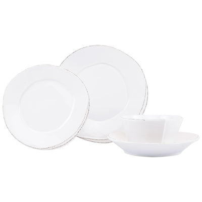 Lastra White Four-Piece Place Setting by VIETRI
